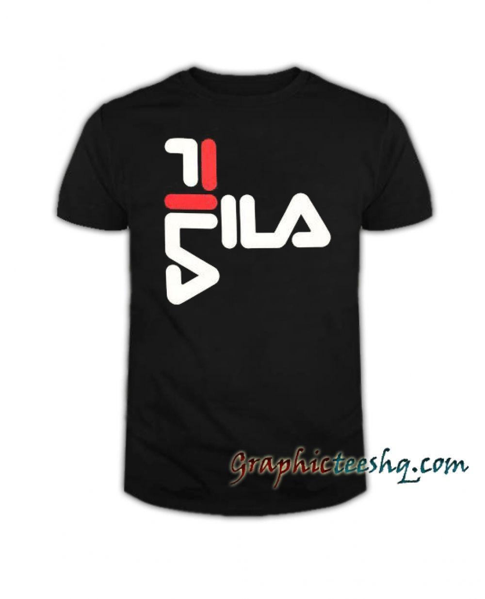 ca59ff10b6 FILA Anthony Mens Black Tee Shirt Price: 13.50 #style #fashion #tshirts #tee  #tshirtdesign#instafashion #black #cute #art #amazing#funny #webstagram  #lol ...
