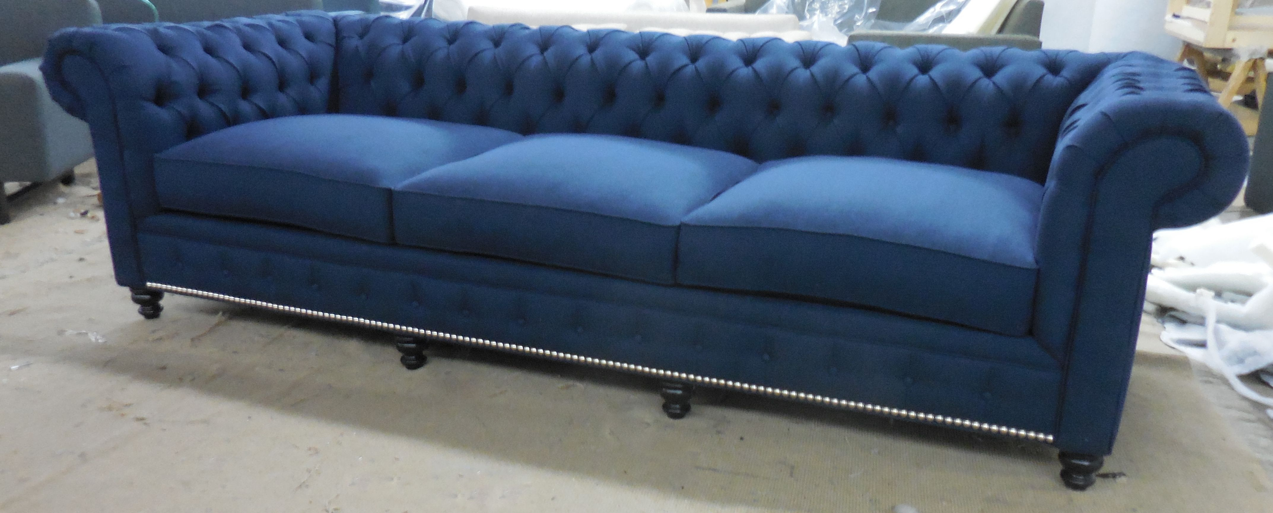 KENZIE STYLE CUSTOM CHESTERFIELD SOFA ANY SIZE OR FABRIC MONARCH