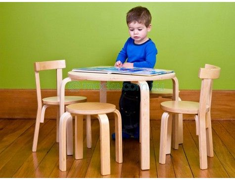 Mocka Wood Table and Chairs | Kid's Furniture | Kids table