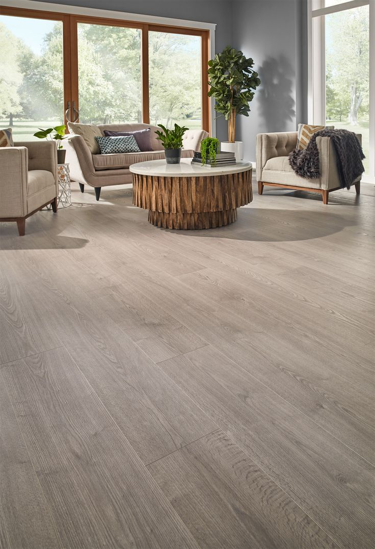 Highly Water Resistant Misty Morning Oak Is The Perfect Laminate