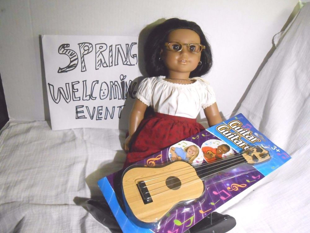 "Doll's and Kid's GUITAR fits American Girl, Kidz N Cats_ 18"" Dollhouse_music #Unbranded"