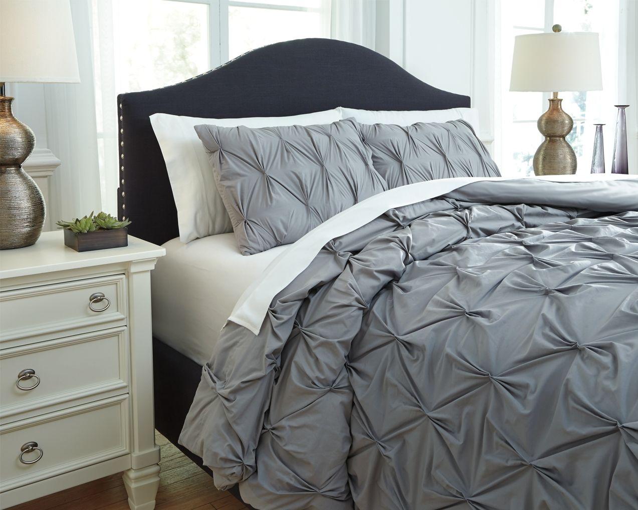Rimy 3 Piece Queen Comforter Set Gray Comforter Sets King Comforter Sets Grey Comforter Bedroom