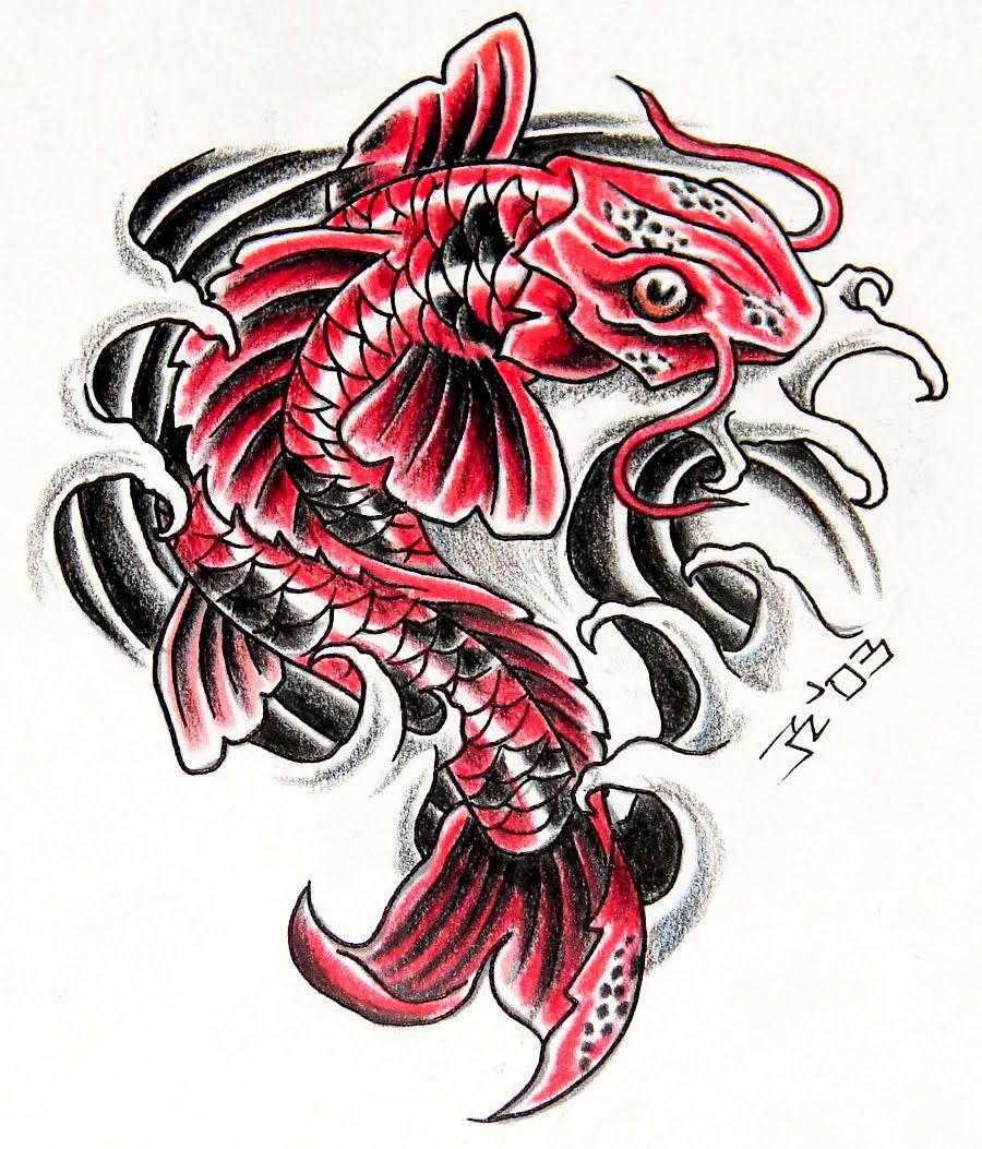Koi fish tattoo designs tattoo gallery tattoo designs for What does a koi fish represent