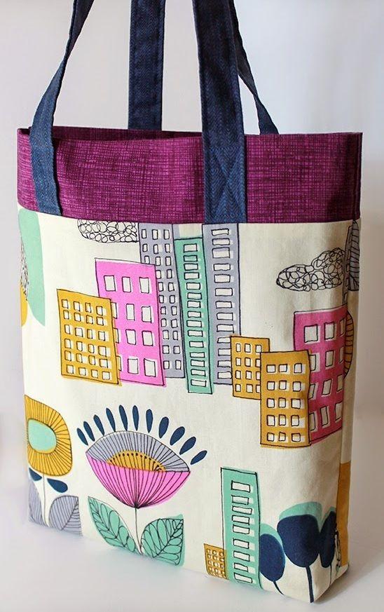 Tri-Color Ten-Step Tote Bag Pattern  58b921b87a8