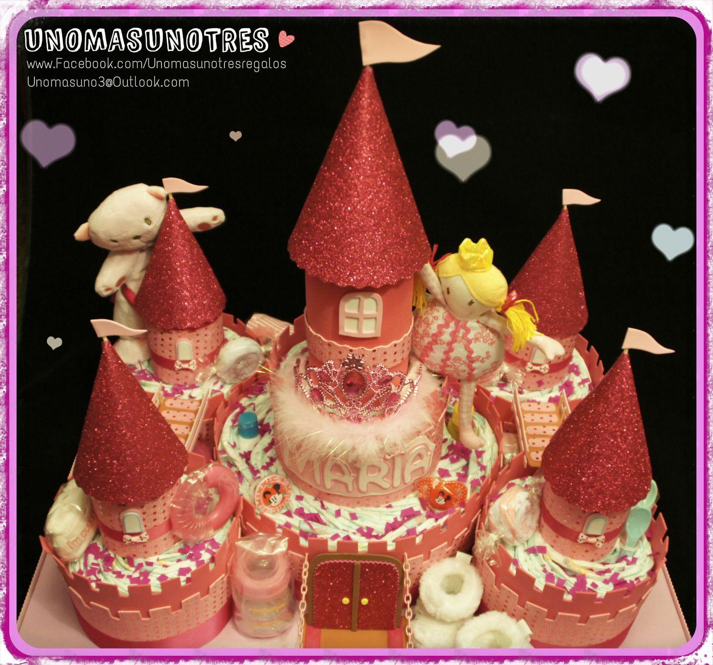 Pasteles / tartas de pañales. Diapers cake www.facebook.com/Unomasunotresregalos