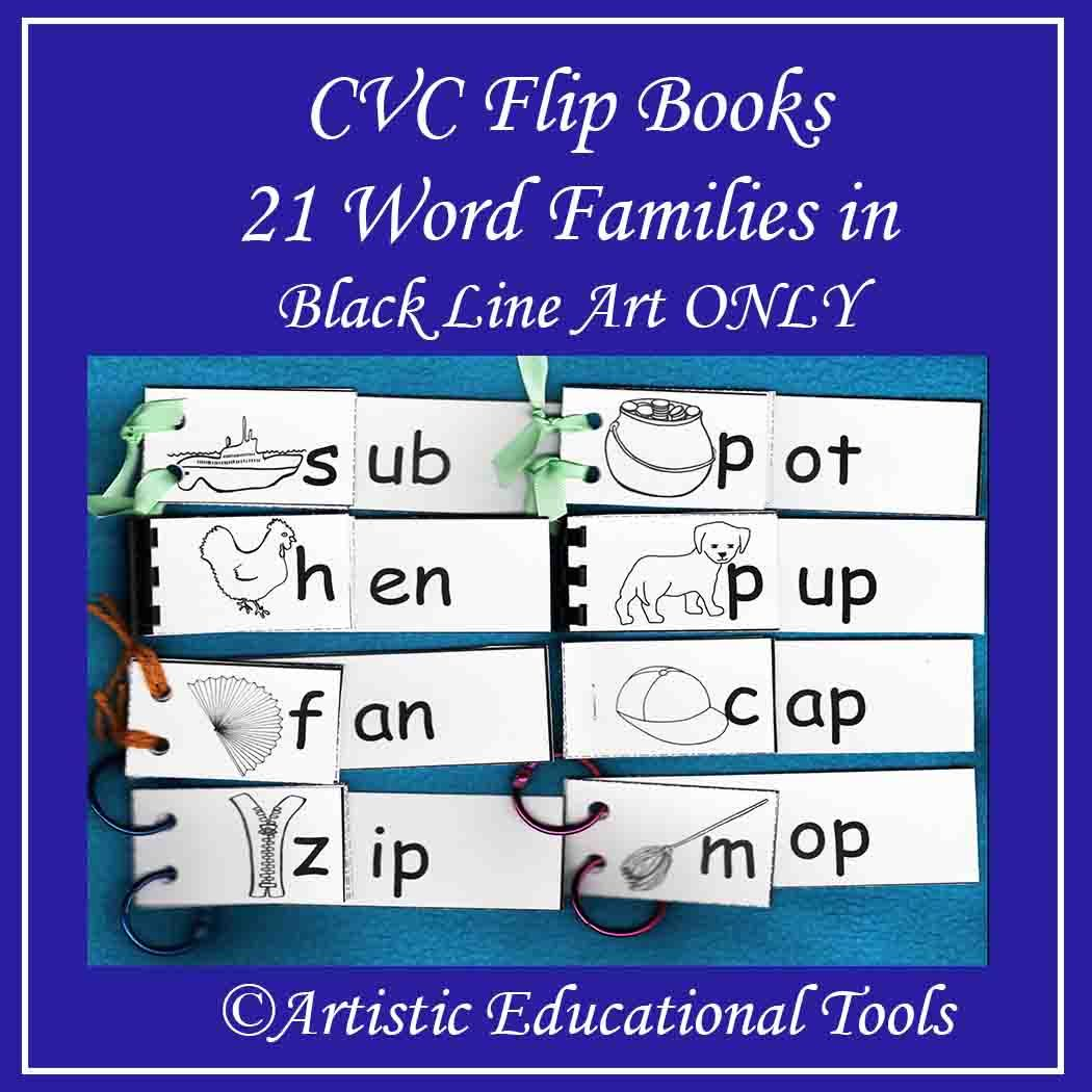Cvc Rhyming Word Family Flip Books