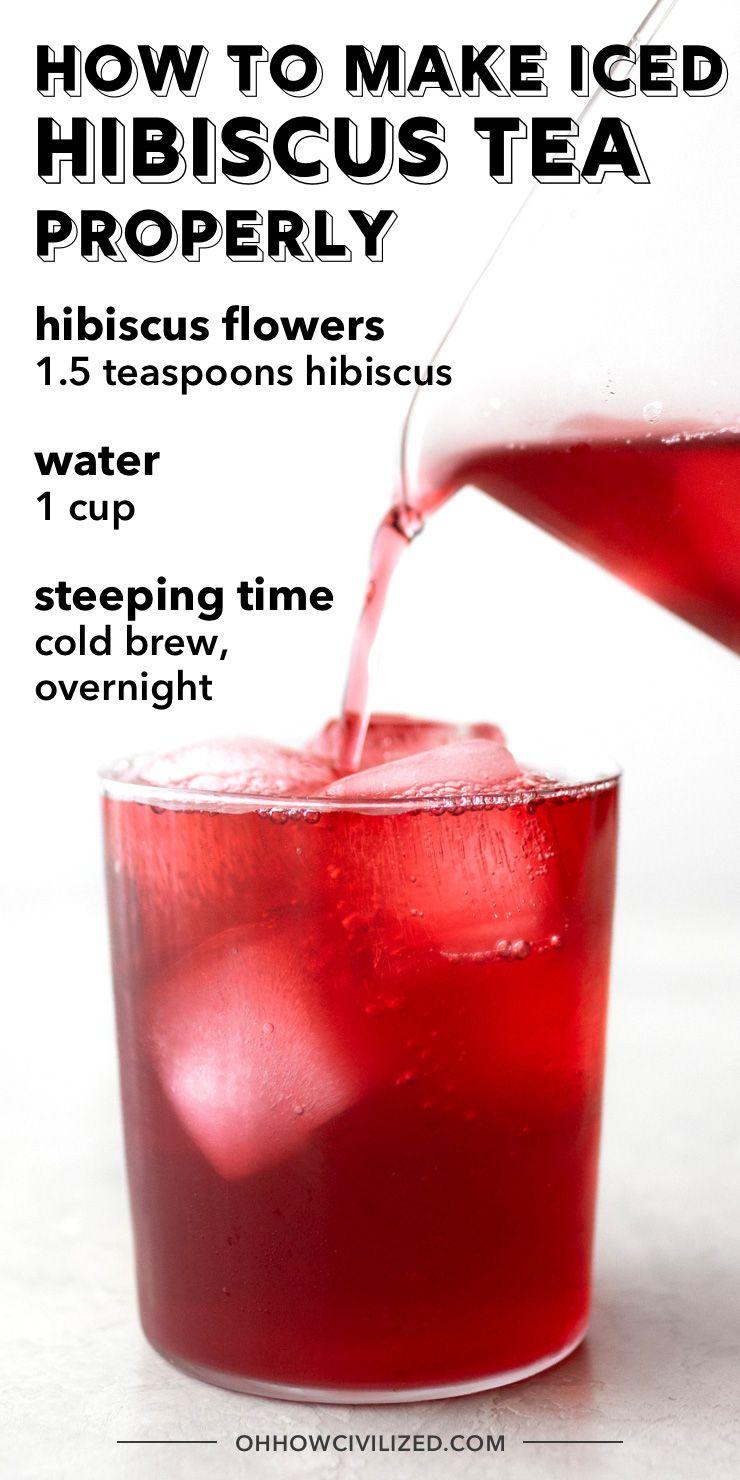 Hibiscus Tea Recipe Hibiscus Tea Iced Tea Recipes Brewing Tea