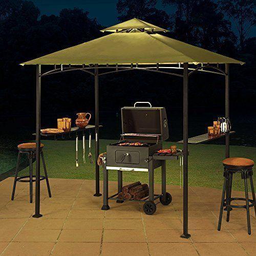 Grill Gazebo Bbq Grilling Canopy Sunjoy 8 X 5 Sylvan Large Green