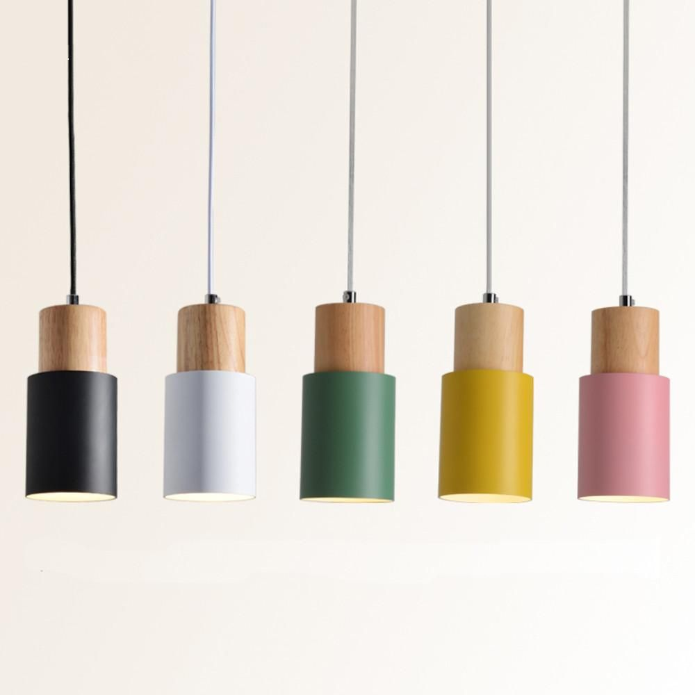 Designer Nordic Wooden Base Hanging Light In 2020 Wooden Pendant Lighting Wood Pendant Light Led Pendant Lights