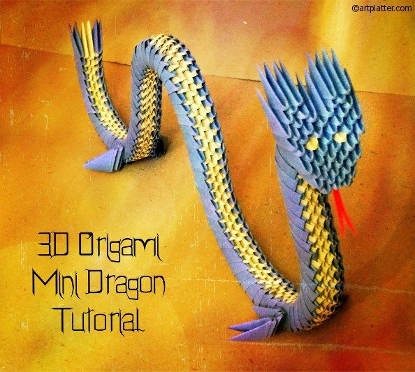 One of the popular Chinese origami models is the three dimensional origami dragon made using triangular units of folded paper. This is a mini dragon model and the assembly is pretty simple! How to ...