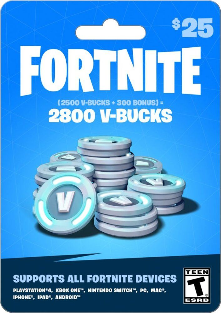 étourdissant  Mot-Clé $25 Fortnite In Game Currency Card GEARBOX FORTNITE V BUCKS $25   Best Buy
