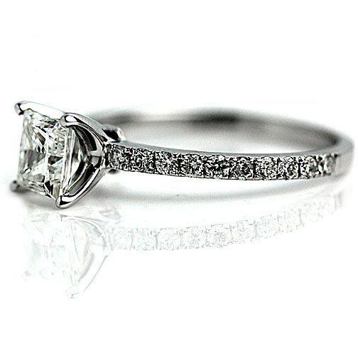 Vintage Style Diamond Engagemen Diamond Engagement Ring Princess Cut