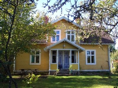 yellow scandinavian house