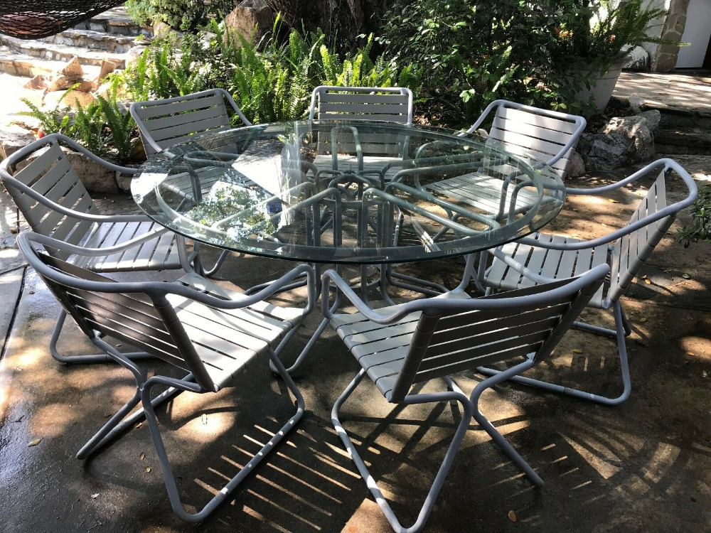 Brown Jordan Dine Set 6 Chairs Table Patio Furniture Outdoor Ebay In 2020 Outdoor Patio Furniture Patio Outdoor Furniture