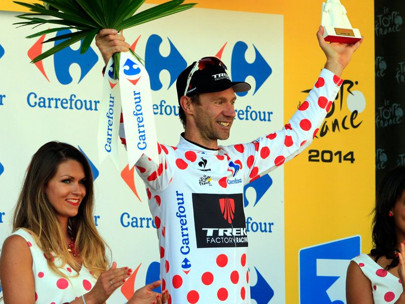 TOUR DE FRANCE STAGE ONE GALLERY Voigt claimed the polka dot jersey after his brave solo attack saw him take home four points along the rout...