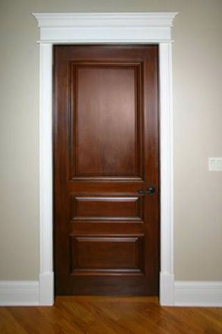 Pin By Ruth Schafer On Dream House Wood Doors White Trim Stained Doors White Trim Solid Wood Interior Door
