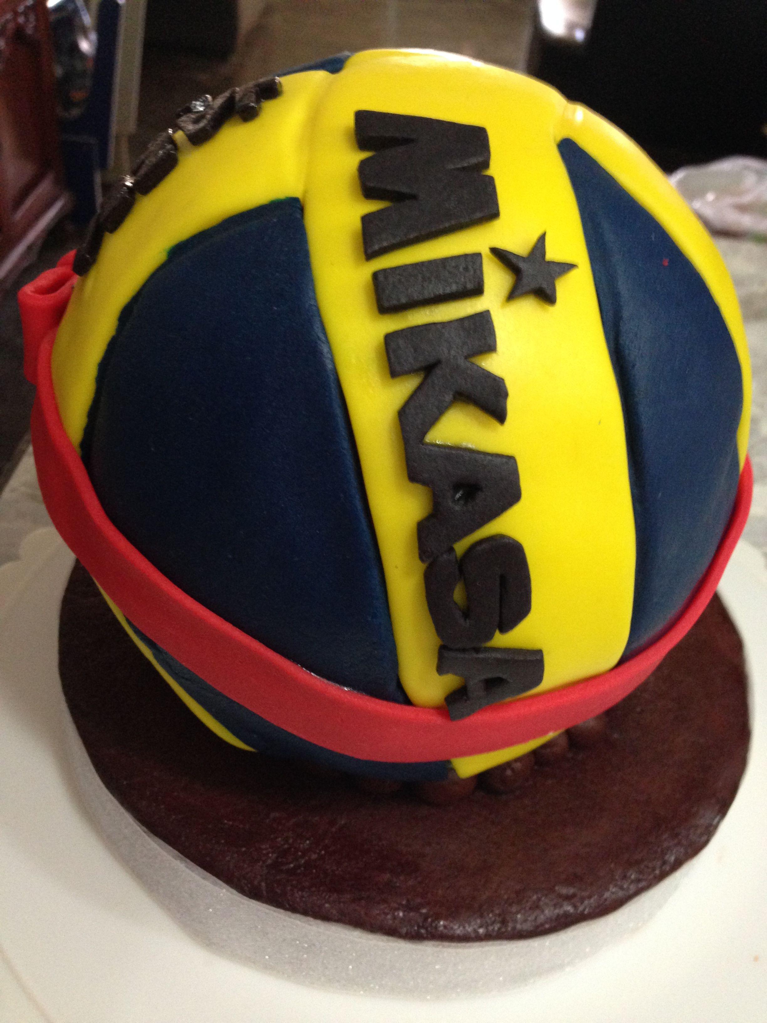 Mikasa Volleyball Cake Volleybal