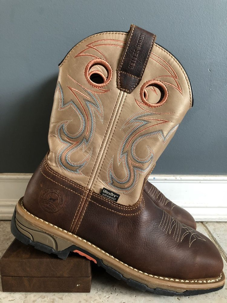 4ff629162b2b81 RED WING IRISH SETTER MARSHALL Women 8.5 B Steel Toe Western Horse Cowboy  Boots  fashion  clothing  shoes  accessories  womensshoes  boots (ebay link)