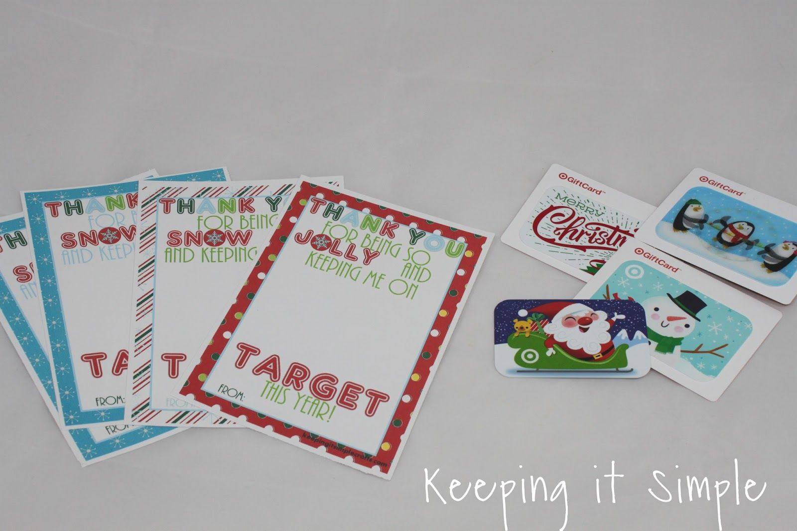 Teacher Christmas Gift Idea- Printable for Target Gift Card ...