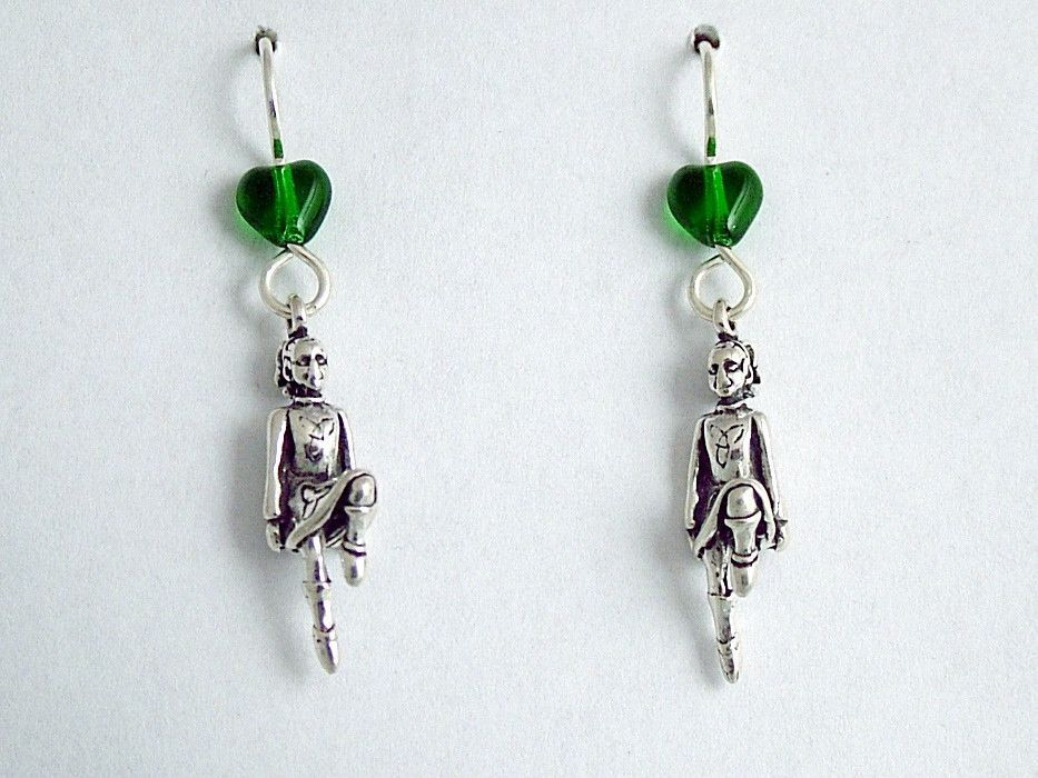 Sterling Silver Irish Dancer Dangle Earrings Feis Feisanna Celtic Step Dance This Is A Beautiful Pair Of
