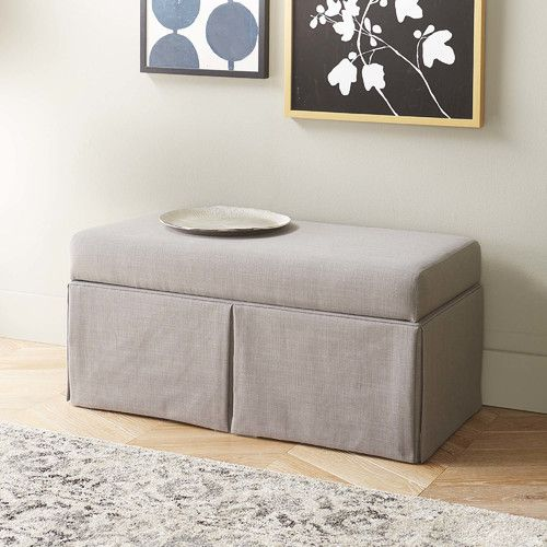 Found It At AllModern   Boyer Linen Wood Skirted Storage Bench