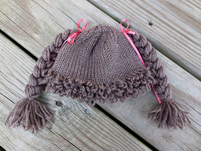 Cabbage Patch Hat - link to a tutorial on Loop Stitch | Knit ...