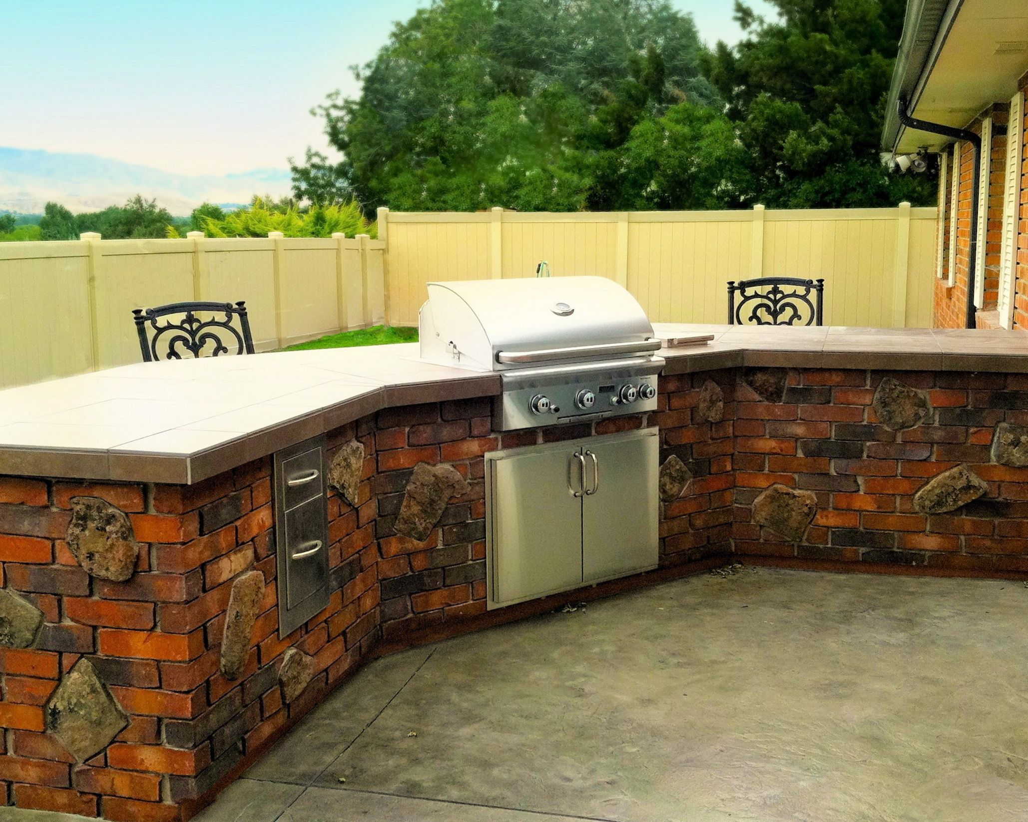 outdoor kitchen built for entertaining and to compliment the architecture of the rustic on outdoor kitchen natural id=57310