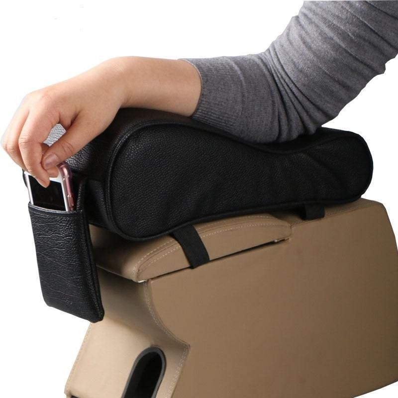 Universal Car Interior Armrest Pad Armrest Box Mat PU Leather Armrest Box UK