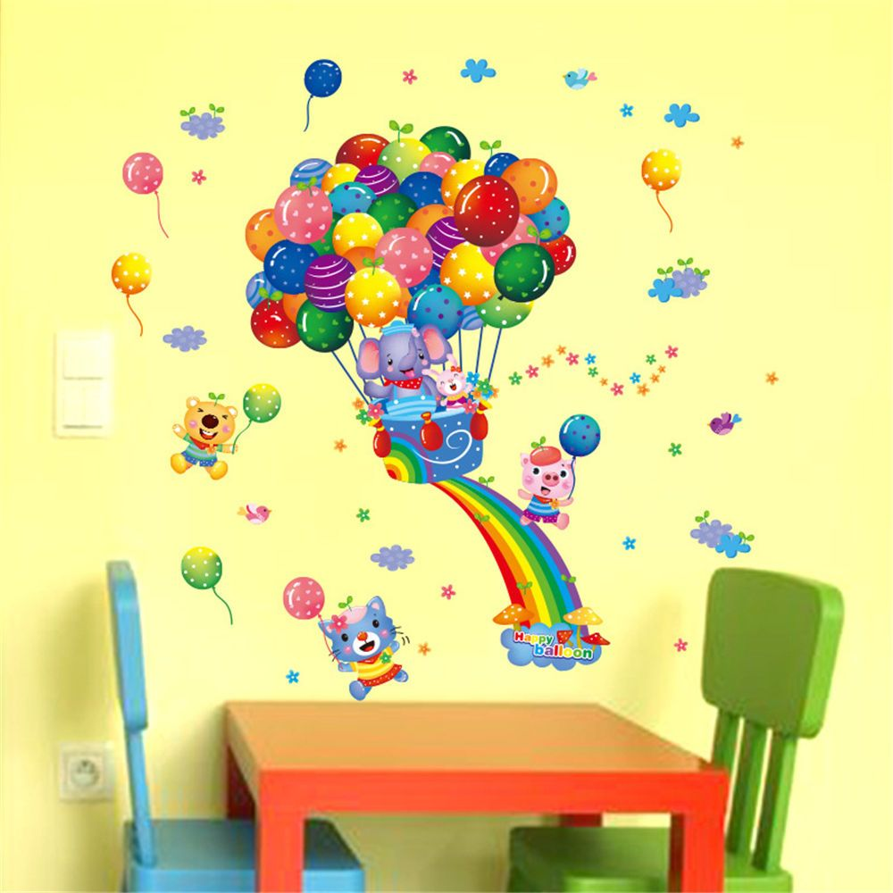 Balloon Rainbow Home Bedroom Decor Removable Wall Sticker Decal ...