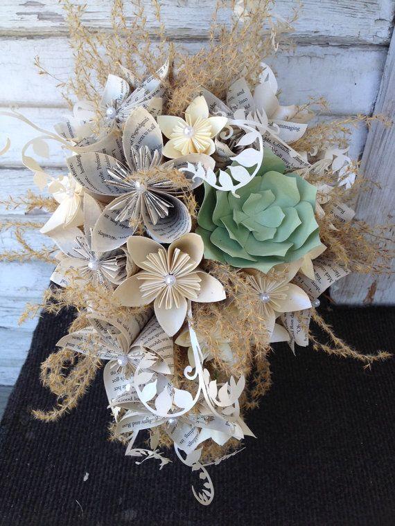 Fiori di carta bouquet da sposa - ricrea-