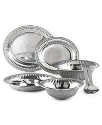 """When I began searching for my homeware all I ever knew about pewter pieces was """"Arthur Court"""" and its beauty.  I quickly learned however that Wilton Armetale offers a slightly better budget friendly collection that mimic the same patterns yet function much more efficiently! Cleaning the pieces (even BBQ pit soot) is so simple! They also keep things very cold!! (margaritas anyone?)"""
