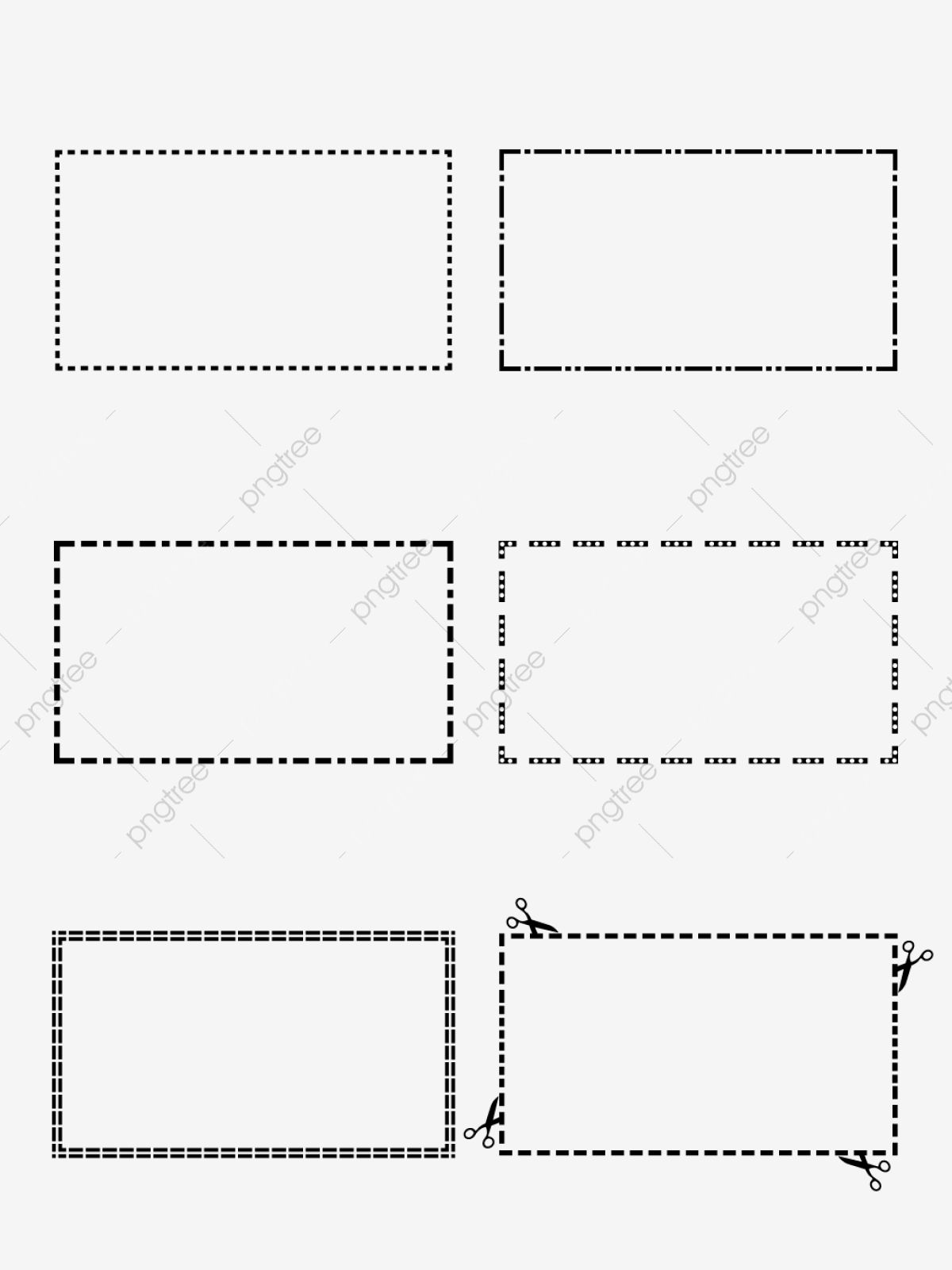 Multiple Dashed Borders For Commercial Elements Dotted Line Border Collection Standard Dotted Line Png And Vector Wi Dotted Line Dots Transparent Background