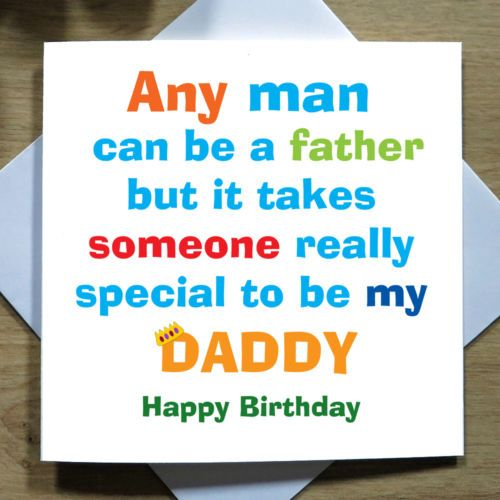 Details about Personalised Handmade Daddy Father Birthday Card – Personalised Birthday Cards for Kids