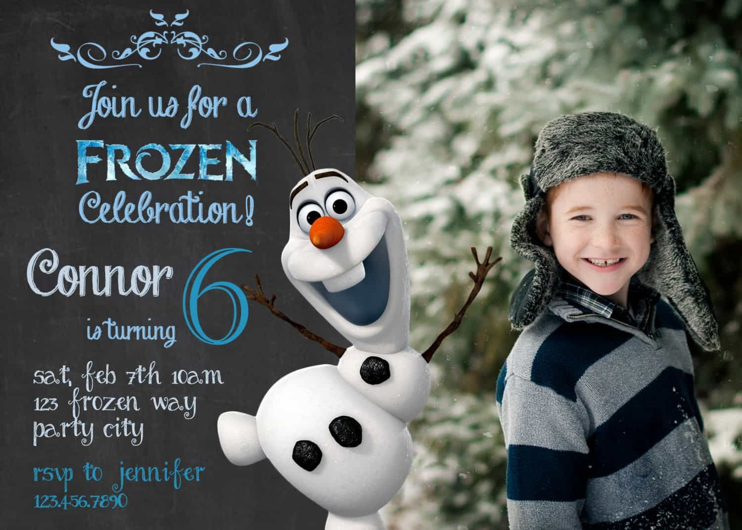 awesome Best Olaf Birthday Invitations Free Templates Check more