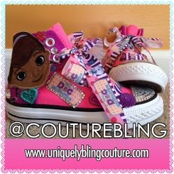 7cc60c5fb3cc Doc McStuffins Inspired Party Fun (Remix Style) Custom Bling Converse