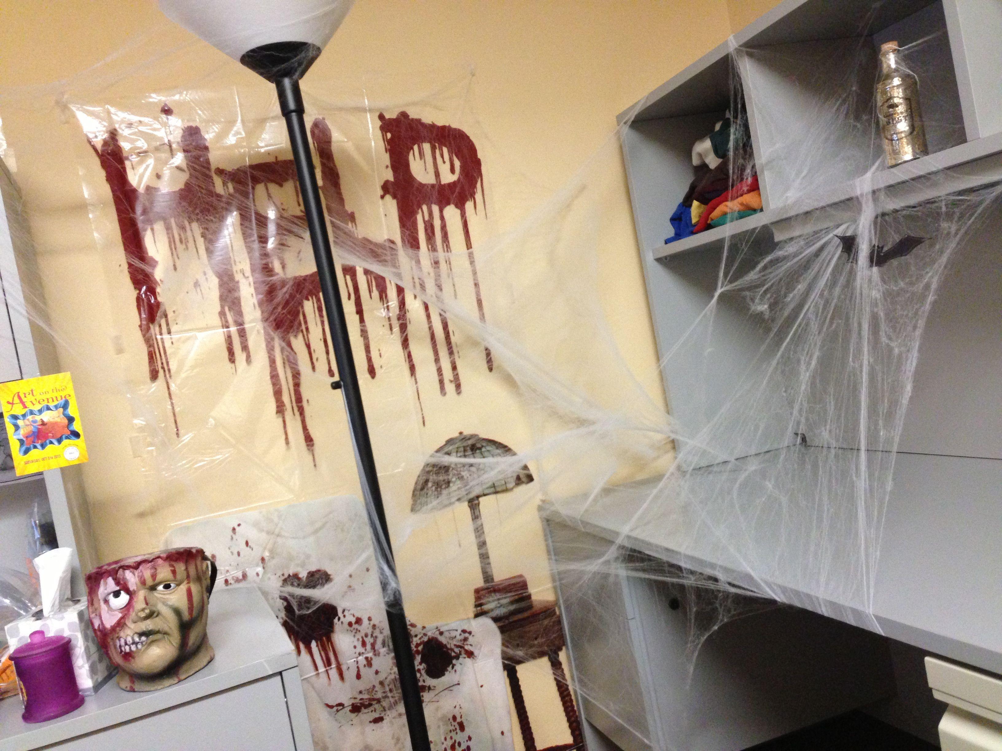 Halloween office decor