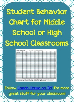This is  page ms excel document to help keep track of student behavior in class the grid broken up into day weeks enough for month at also chart log middle school or high rh pinterest