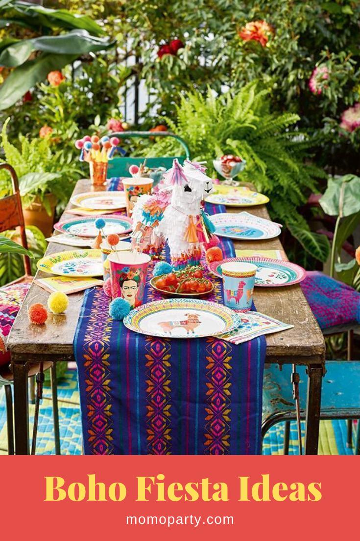 Boho Fiesta Decoration Ideas In 2020 Mexican Fiesta Party Mexican Party Fiesta Party