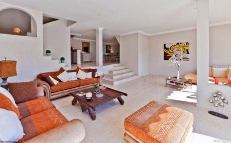 living room white orange brown | Interior design | Pinterest