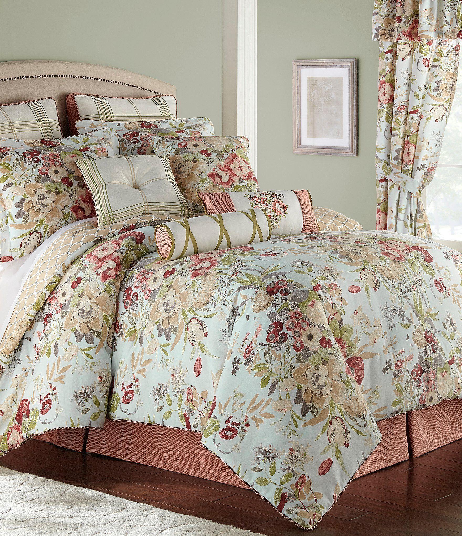Rose Tree Lorraine Floral Comforter Set Dillards Floral Comforter Sets Comforter Sets Floral Comforter