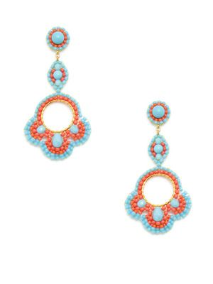 Miguel Ases Turquoise and Miyuki bead earrings Gilt.com exclusive