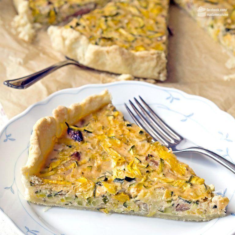 Zucchini-Quiche (vegetarisch) - Madame Cuisine #simplecocktail