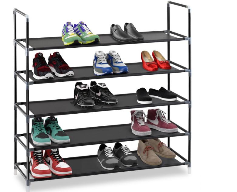 757d566f9dd5e Amazon.com: Whitmor Hanging Shoe Shelves - Crosshatch Gray: Home ...
