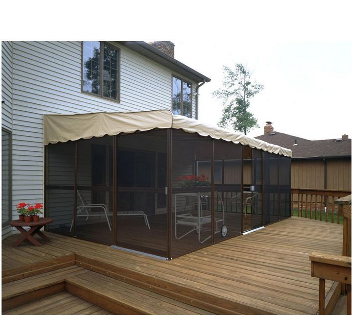 Pergola Enclosure Ideas: Details About Large Outdoor Patio Enclosure Screened Sun