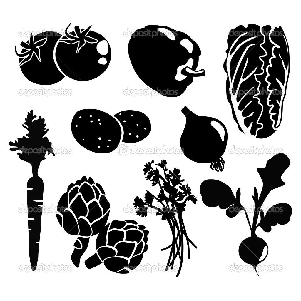 vegetable stencil Google Search Silhouette images