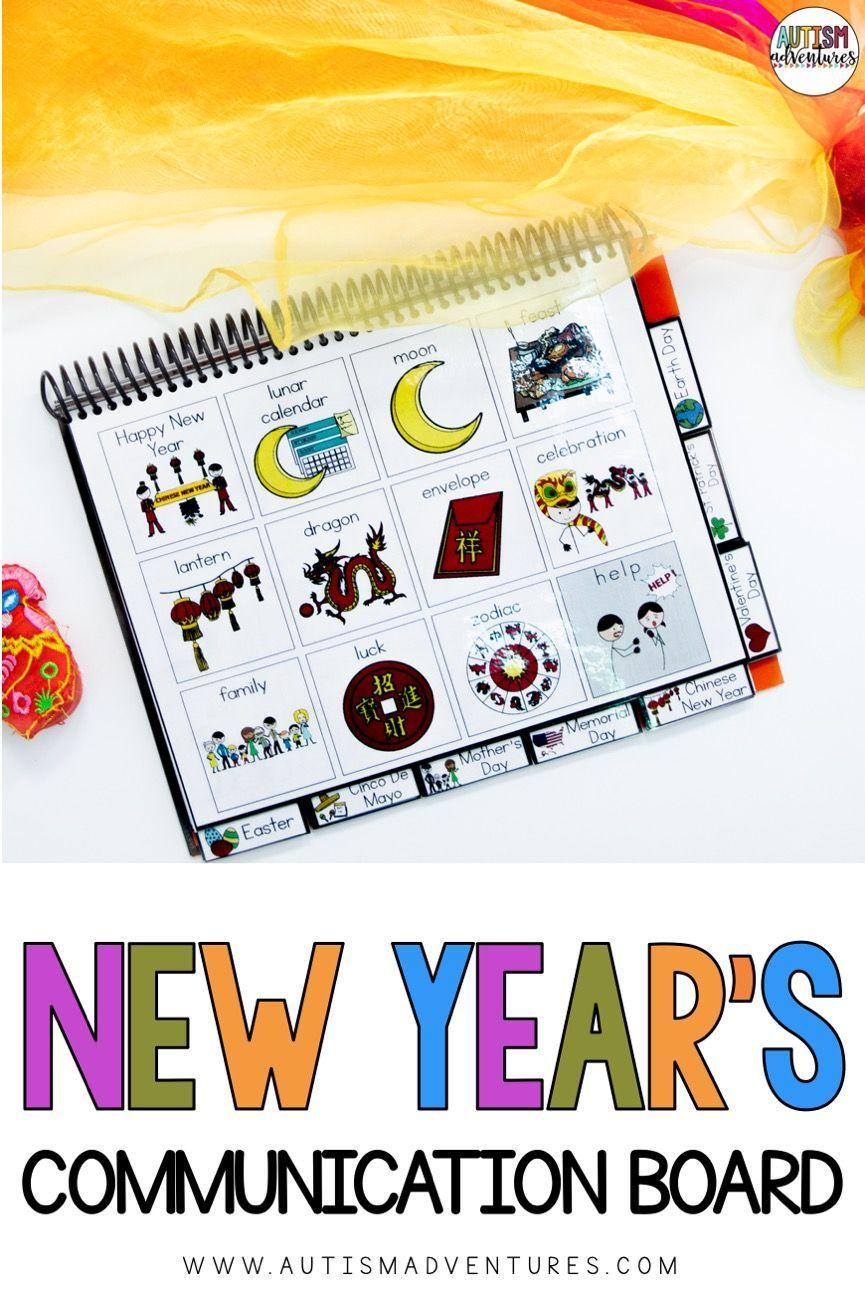 Chinese new year holiday communication bookboard