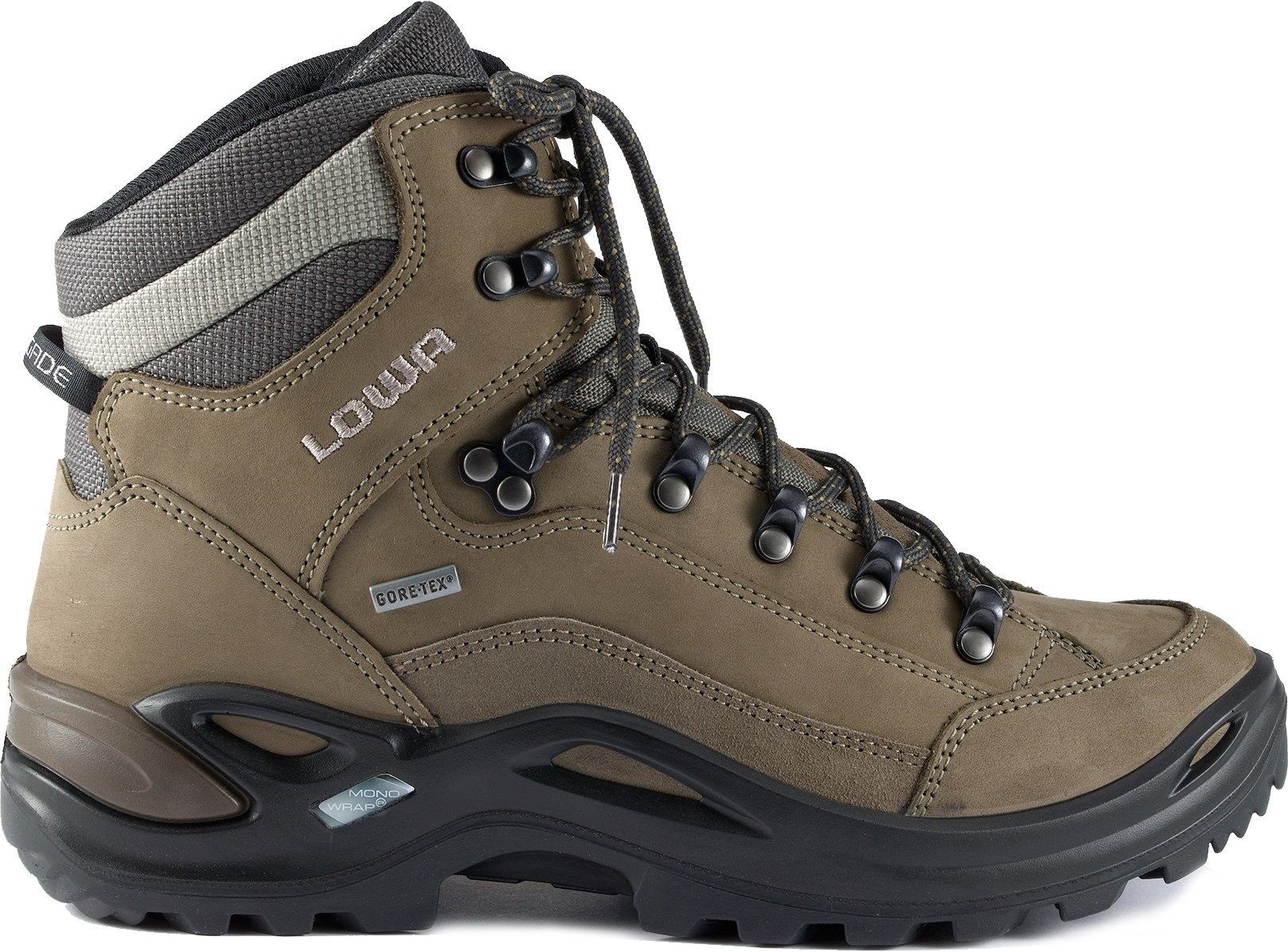 lowa women 39 s renegade gtx mid hiking boots grey blue 11. Black Bedroom Furniture Sets. Home Design Ideas