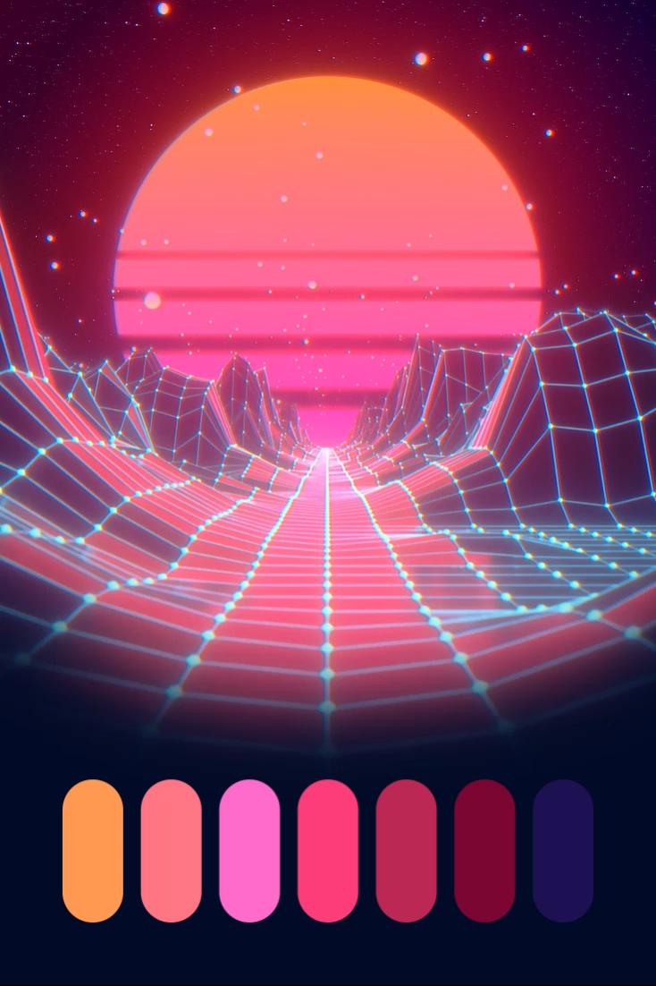 Color Palette: Cyberpunk Sunset