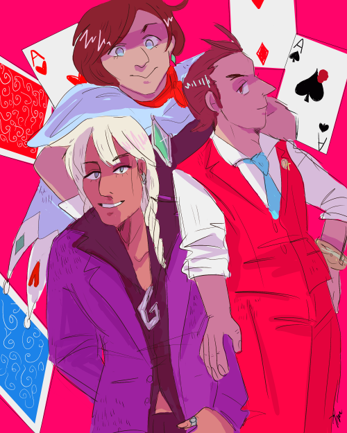 Check Out These Cool Kids With Their Fancy Playing Cards And Weird Hair Phoenix Wright Ace Apollo Justice