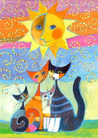 Coloriage Chat Rosina Wachtmeister.Illustrated Cats In 2019 Animals Art Painting Cats
